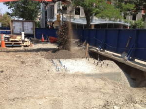Footer being back filled